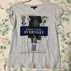 Mango Casual Practical Everyday Graphic Tee Small